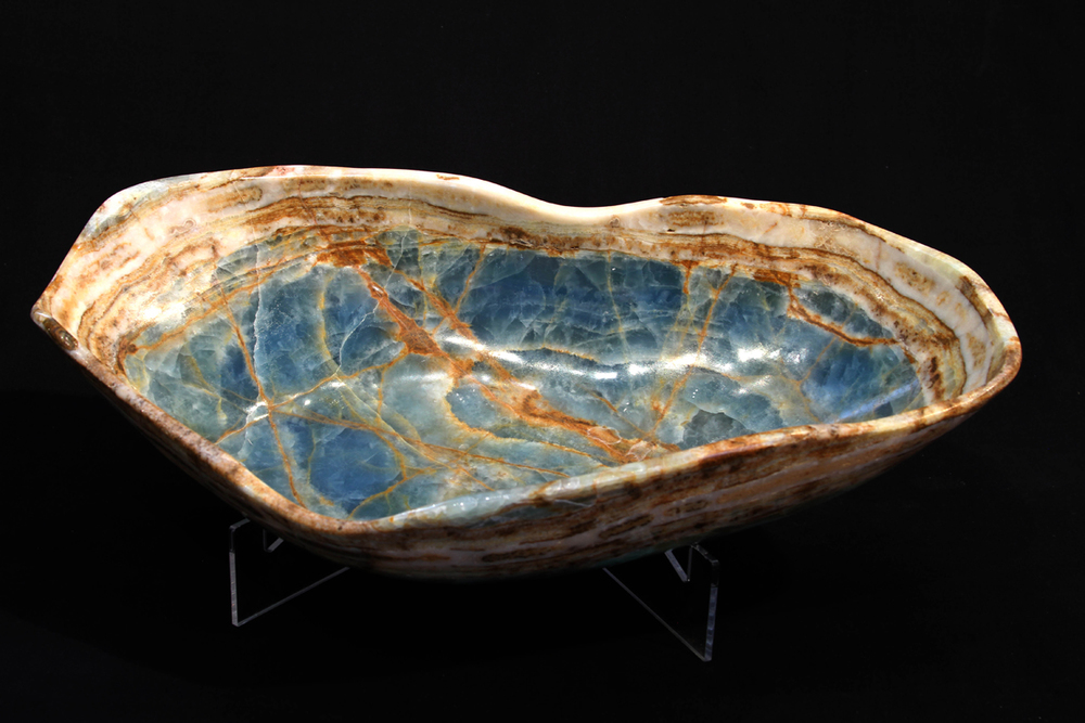 Blue Onyx Freeform Bowl