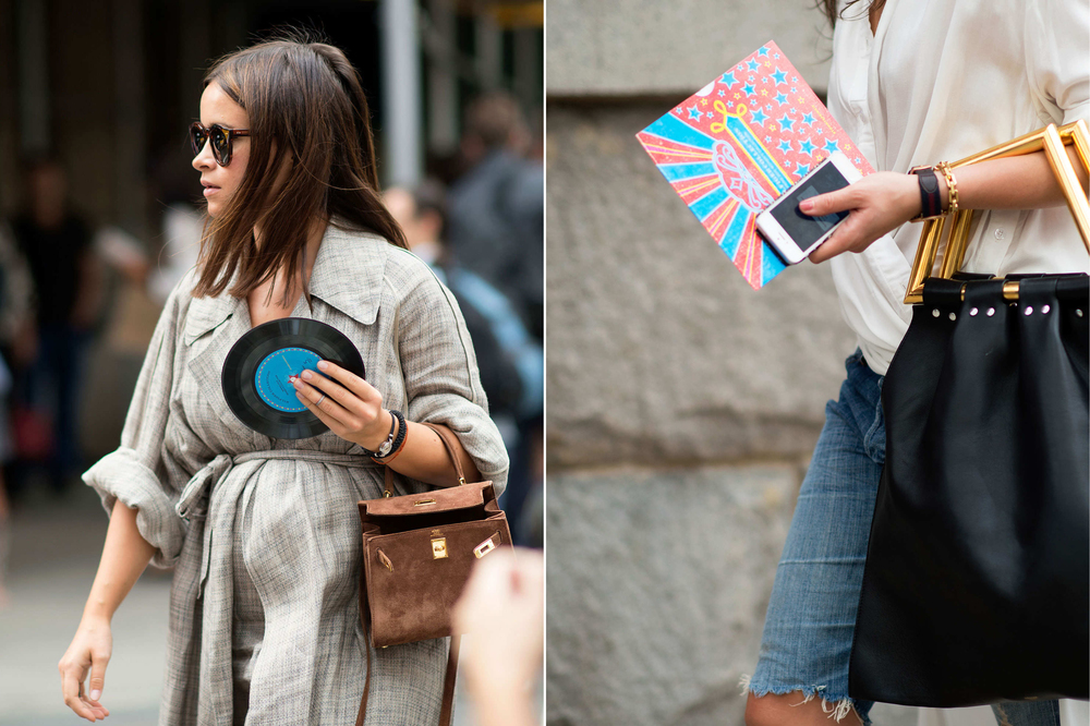 Miroslava Duma  and  Irina Lakicevic  accessorizing in melody.