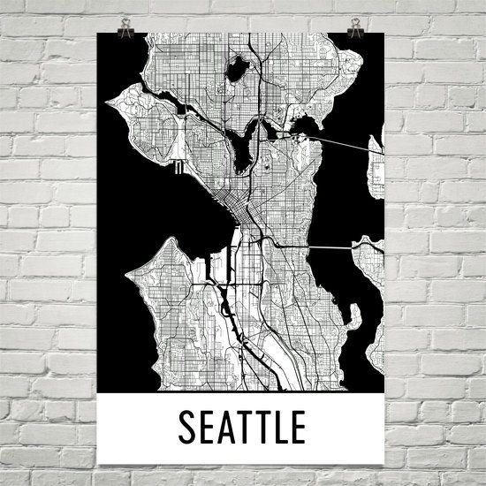 Modern-Map-Art-Seattle-Review