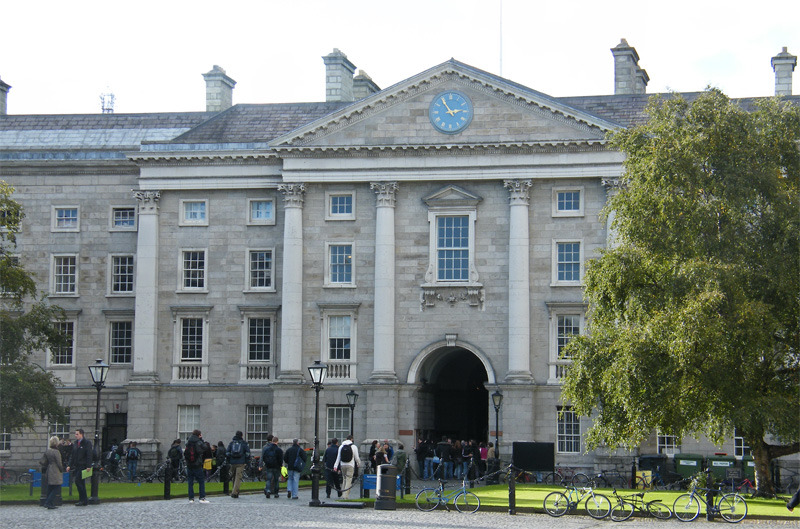 Trinity College, in the centre of Dublin