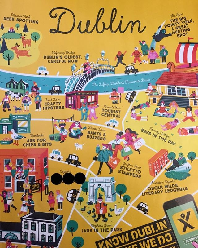 Love this fun map of Dublin! #funmap #lovedublin #summerindublin #mytaxi