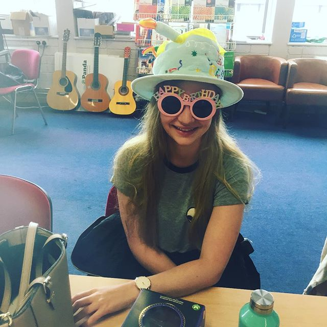 Happy 21st birthday to our wonderful activity leader Alix!!! #birthdaygirl #keytothedoor #twentyone #birthdayhat