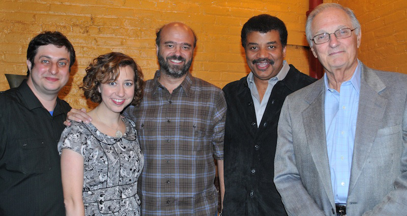 Backstage with Eugene Mirman, Alan Alda, Kristen Schaal, Neil deGrasse Tyson and Scott Adsit.jpg
