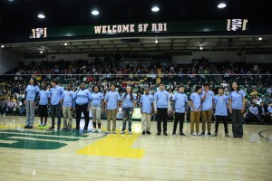 San Francisco RBI students honored at halftime by the University of San Francisco