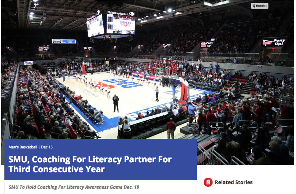 "<p>SMU Basketball<a href=""http://smumustangs.com/news/2016/12/15/mens-basketball-smu-coaching-for-literacy-partner-for-third-consecutive-year.aspx""<target""_blank"">☞</a></p>"