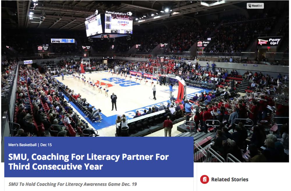 "<p>SMU Basketball<a href=""http://smumustangs.com/news/2016/12/15/mens-basketball-smu-coaching-for-literacy-partner-for-third-consecutive-year.aspx""<target""_blank"">☞</a></p>"