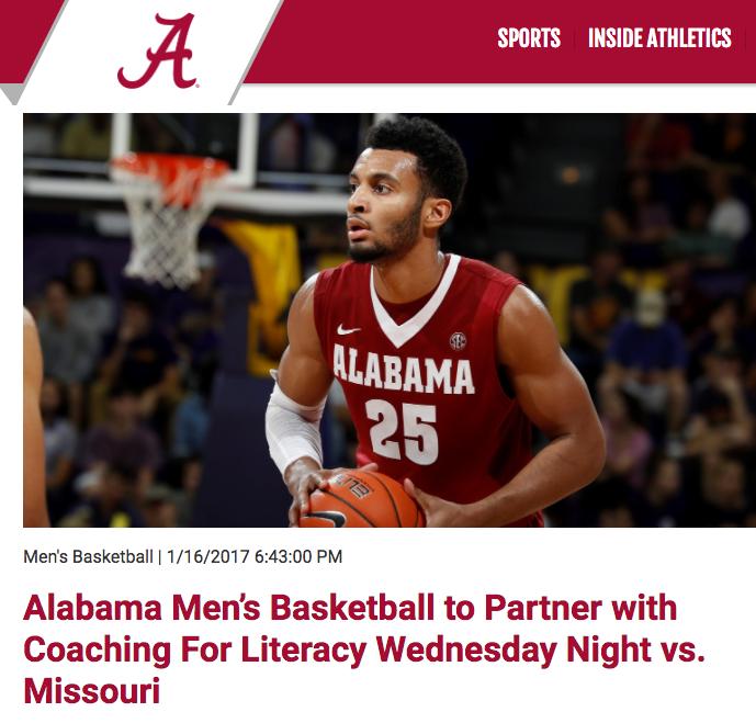 "<p>Alabama Basketball<a href=""http://www.rolltide.com/news/2017/1/16/alabama-mens-basketball-to-partner-with-coaching-for-literacy-wednesdays-night-vs-missouri.aspx/""<target""_blank"">☞</a></p>"