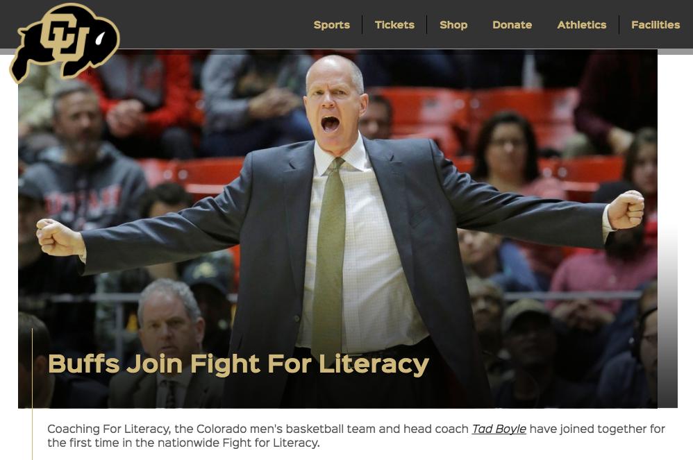 "<p>Colorado Basketball<a href=""http://www.cubuffs.com/news/2017/3/3/mens-basketball-buffs-join-fight-for-literacy.aspx""<target""_blank"">☞</a></p>"