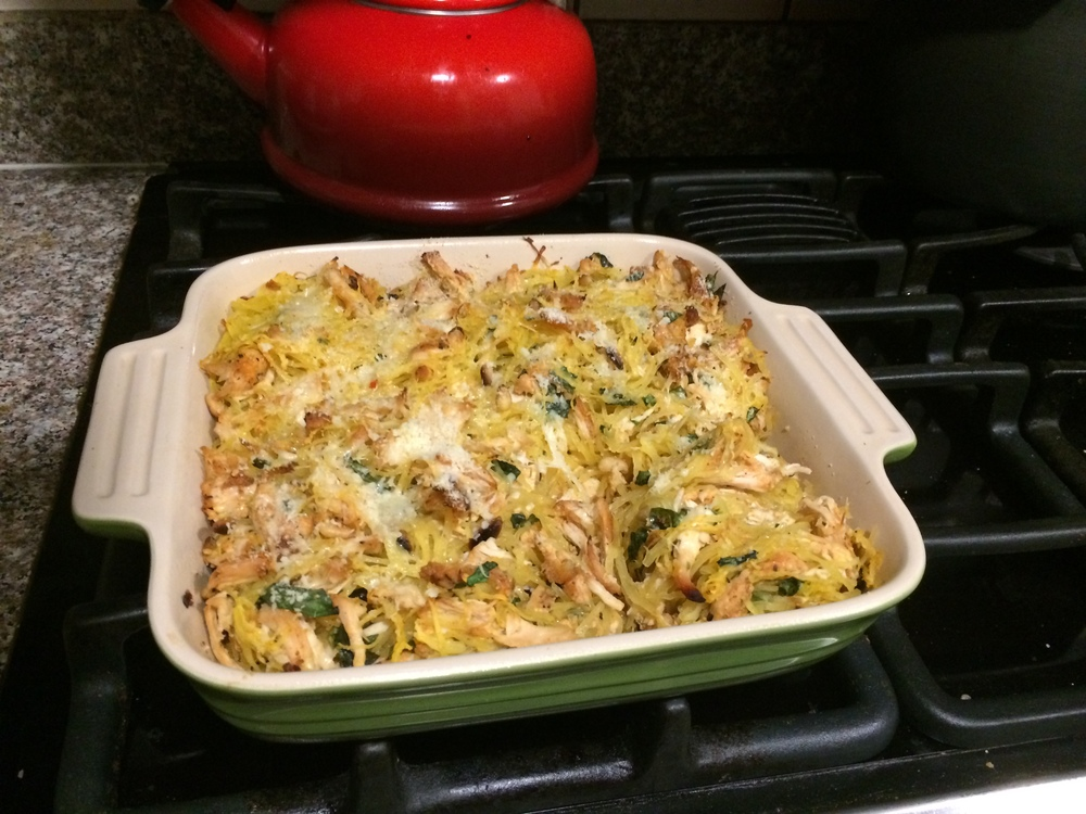 Spaghetti Squash & Chicken Bake