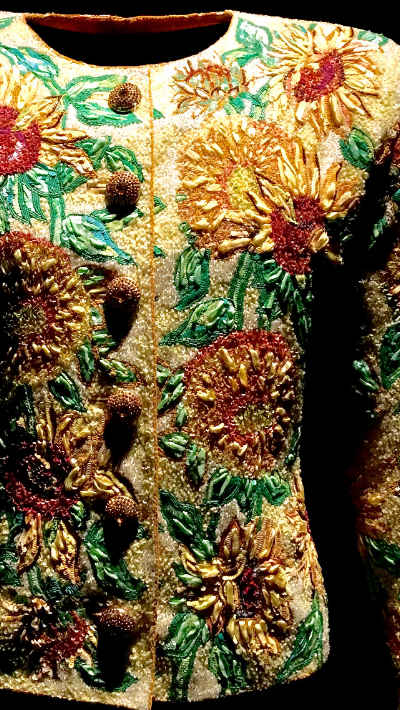 Vincent Van Gogh's Sunflowers Haute Couture 1988 - Van Gogh's Sunflowers Haute Couture SS 1988