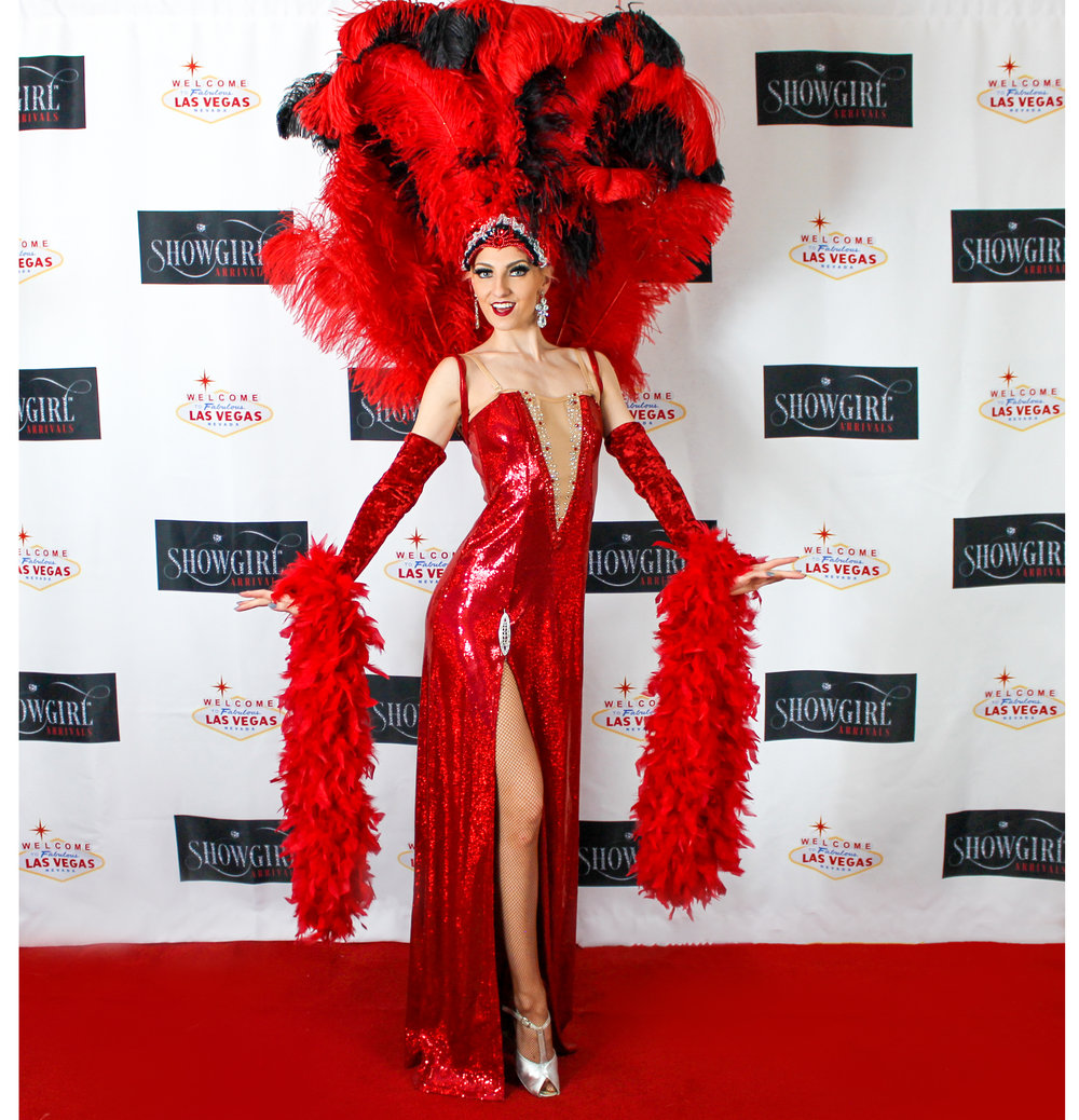 Showstopper   - A classy one piece red sequin costume