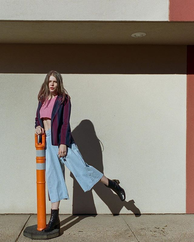 Mood.  Model: @kyrstenmarieathan  Styling + wardrobe: @rolandfitz.me  Film: #portra400 Camera: #canon1v  Scan/ dev: @thefindlab