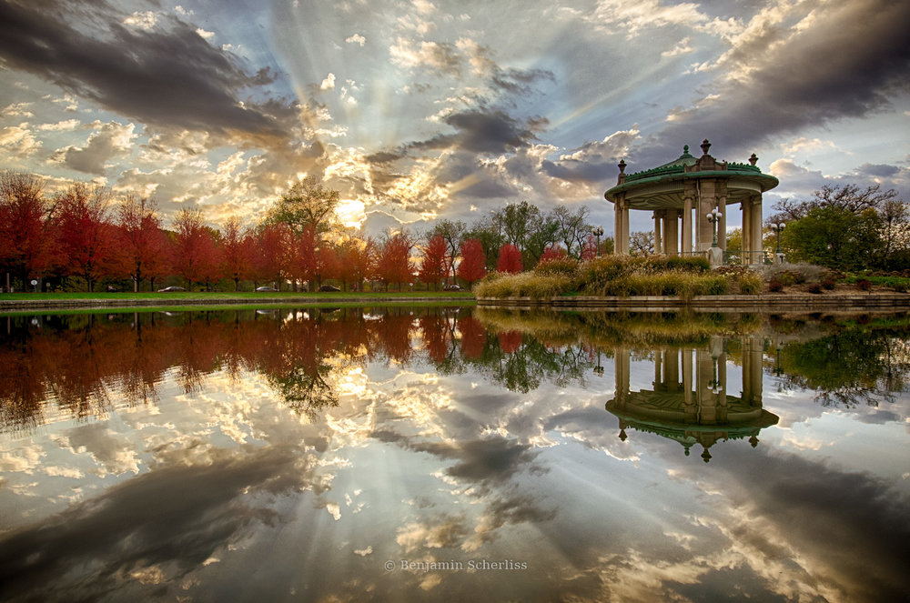 Muny Pagoda in Forest Park. See my full Forest Park album  here [or scroll to top for Full Site Menu]