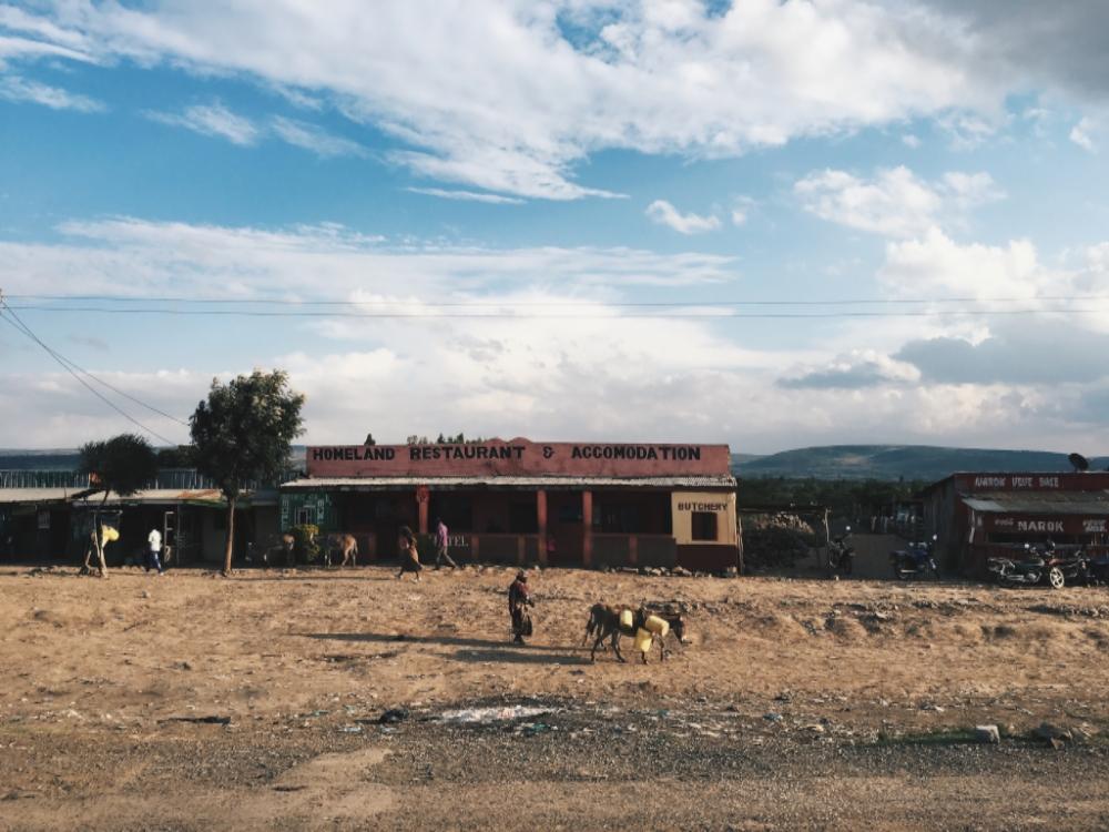 The streets in the Massai Mara region of Kenya.