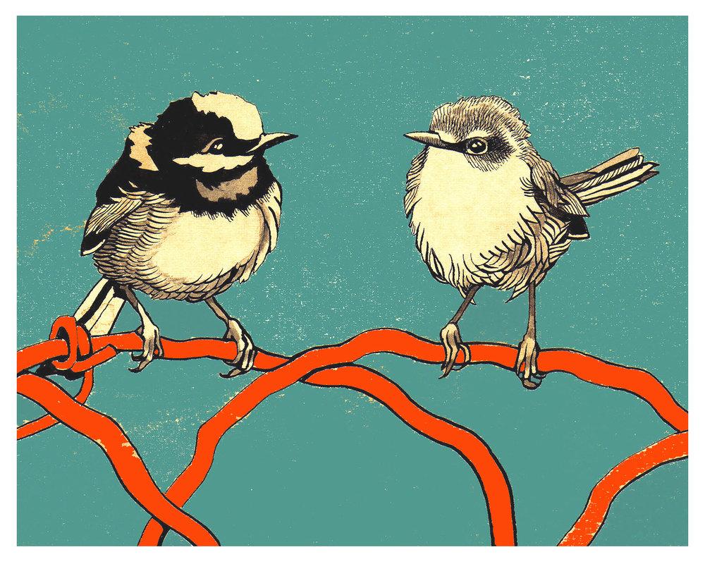 Renee Staeck,  Bird Blue