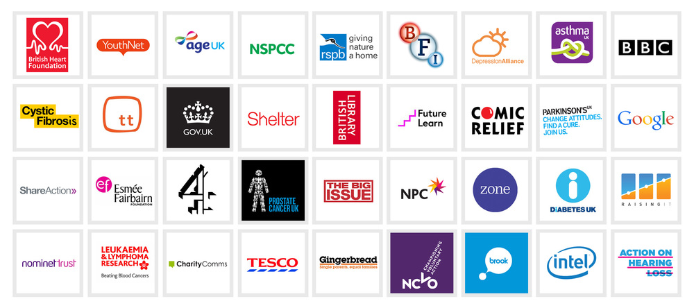 Just some of the organisations who've contributed to the New Reality study