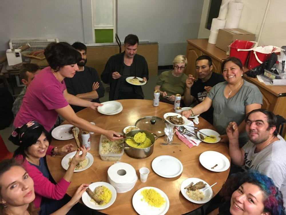 UVW first dinner in new home.jpg
