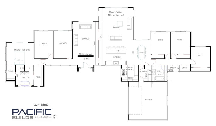 325m2 Luxury Home — Pacific Builds Homes & Lifestyles