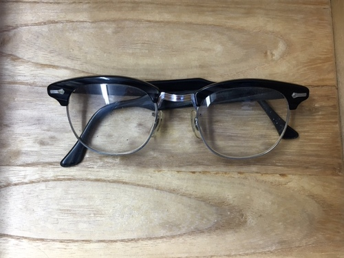 Shuron Black Frames with Silver Detail - 45 — New Eyes