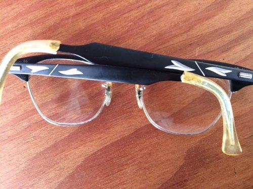ef57375398a5 Vintage Aluminum Black Cat s Eye Frame - 247