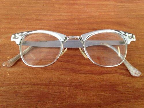 a31f51a4b14 Alum Silver Cat-Eye Frames with Dark Silver Inlays - 373 — New Eyes