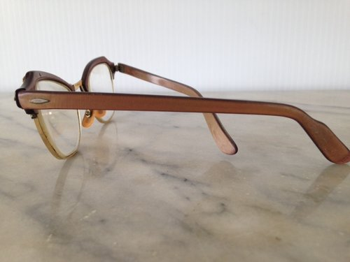 e0d6243f0f28 Bronze with Gold Accents Cat Eye Frames - 470