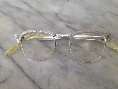 fa6c91f1a34 Alum Silver Cat-Eye Frames with Etched Details - 482. IMG 5438.JPG