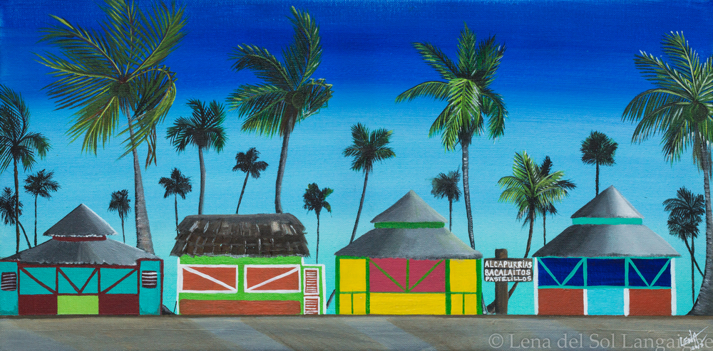 """KIOSKOS DE PIÑONES"" by Lena del Sol Langaigne (Click  HERE  for info & pricing)"