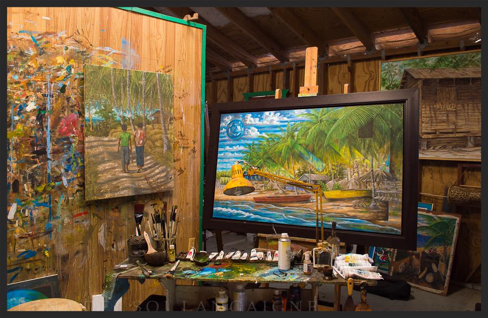 Estudio de Samuel Lind, Loiza Puerto Rico by Lena del Sol Langaigne
