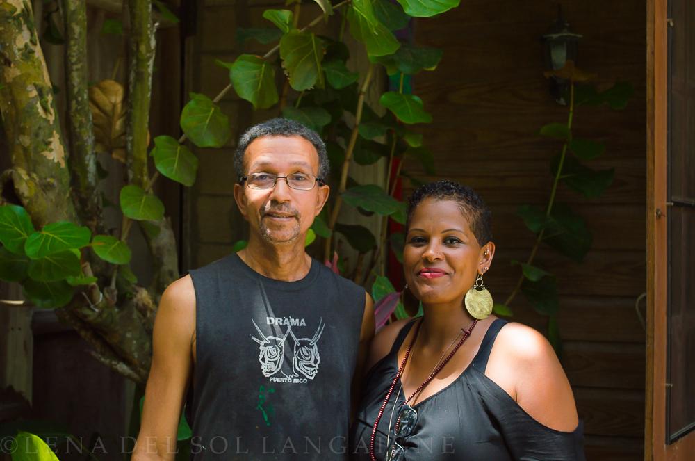 Artist Samuel Lind and Artist Lena del Sol Langaigne