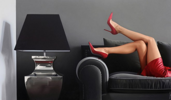 Legs by Pedro Campos.oil on canvas. 162x97cm. c opyright Pedro Campos