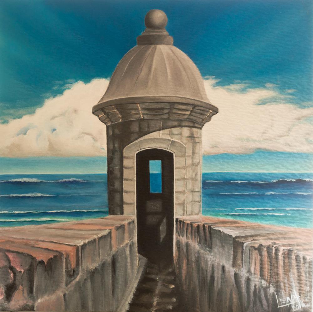 """El Morro"" - Puerto Rican Art by Lena del Sol"