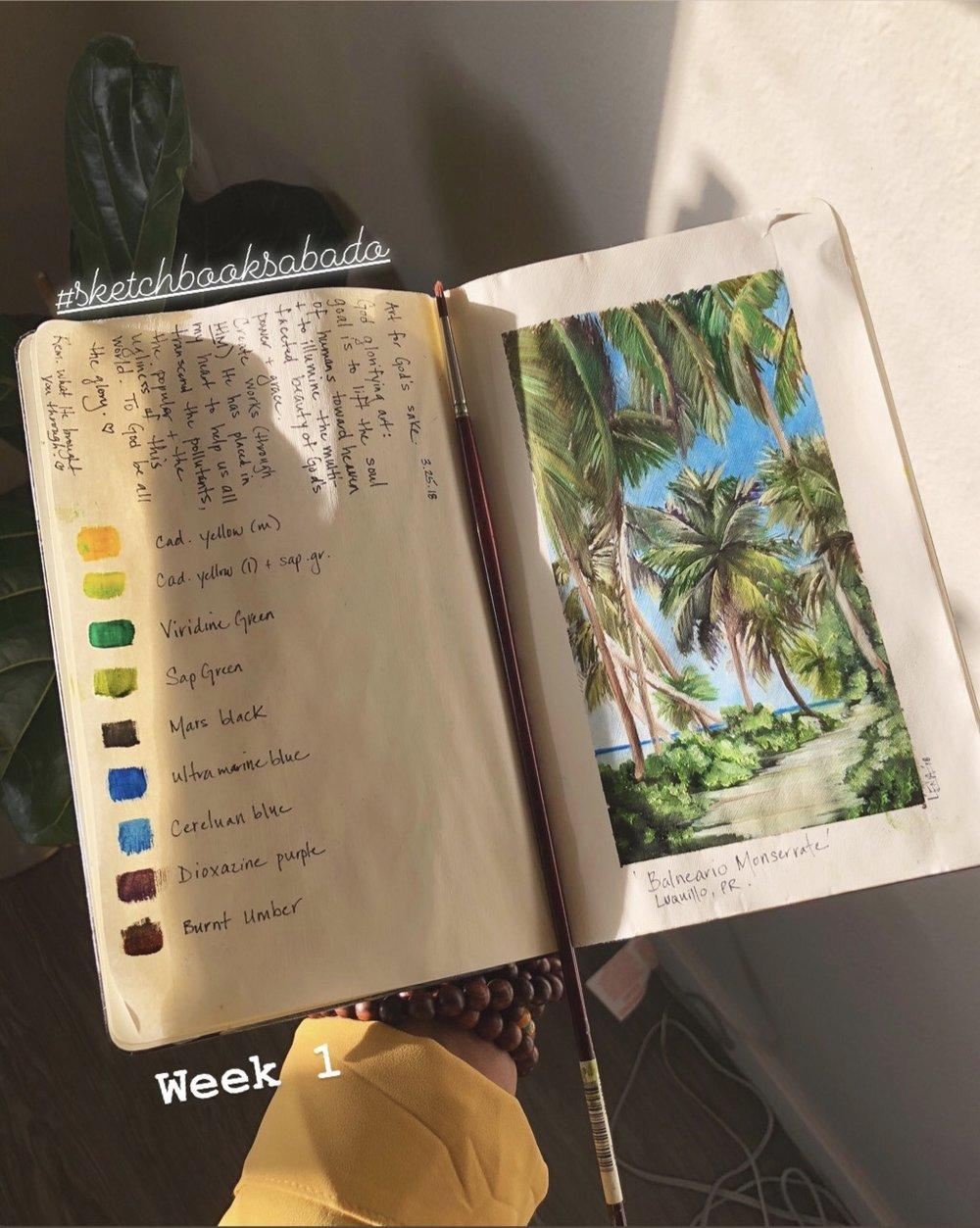Sketchbooksabado by Lena del Sol Langaigne Puerto Rican Artist .jpg