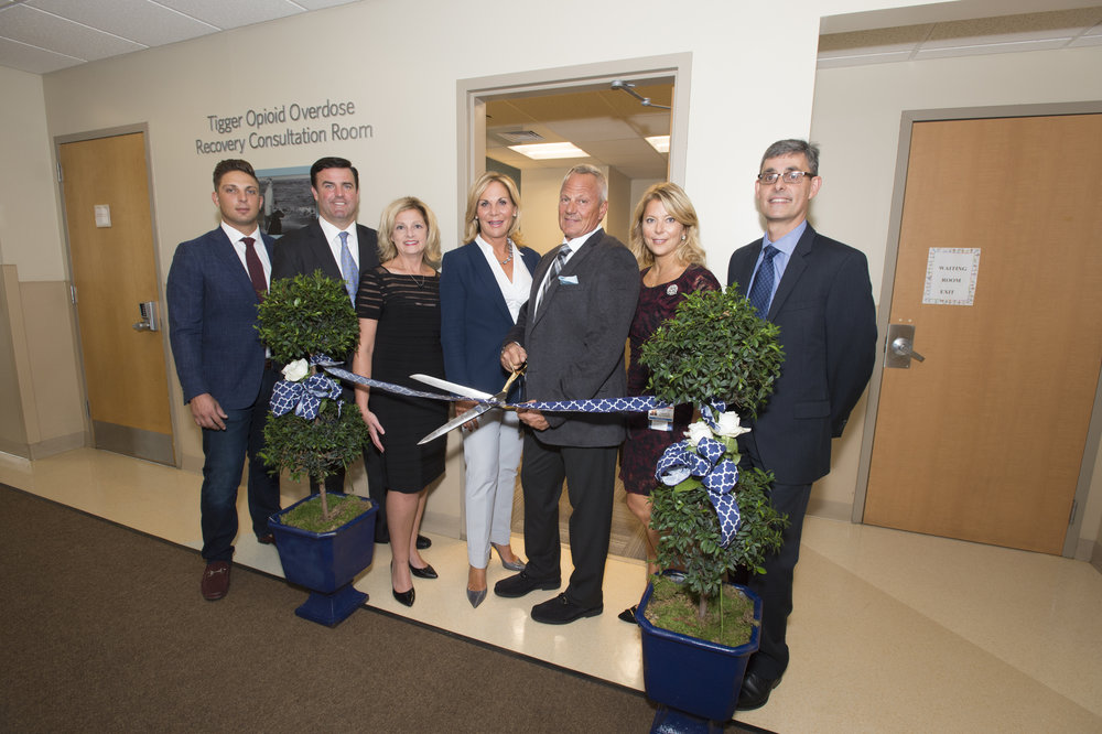 2016 - Tigger Opioid Overdose Recovery Consultation Room dedication, Monmouth Medical Center
