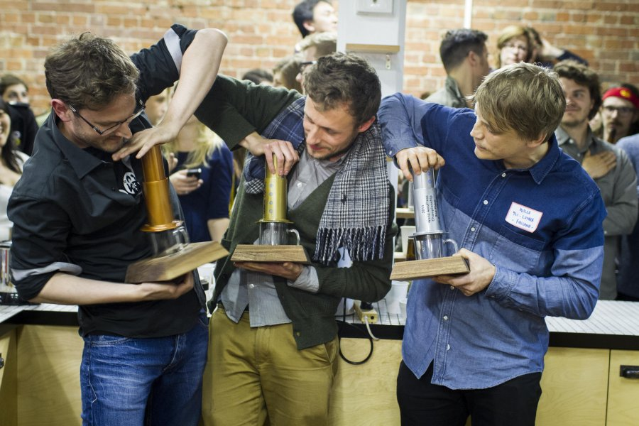 A shot from the Aeropress World Championship for now