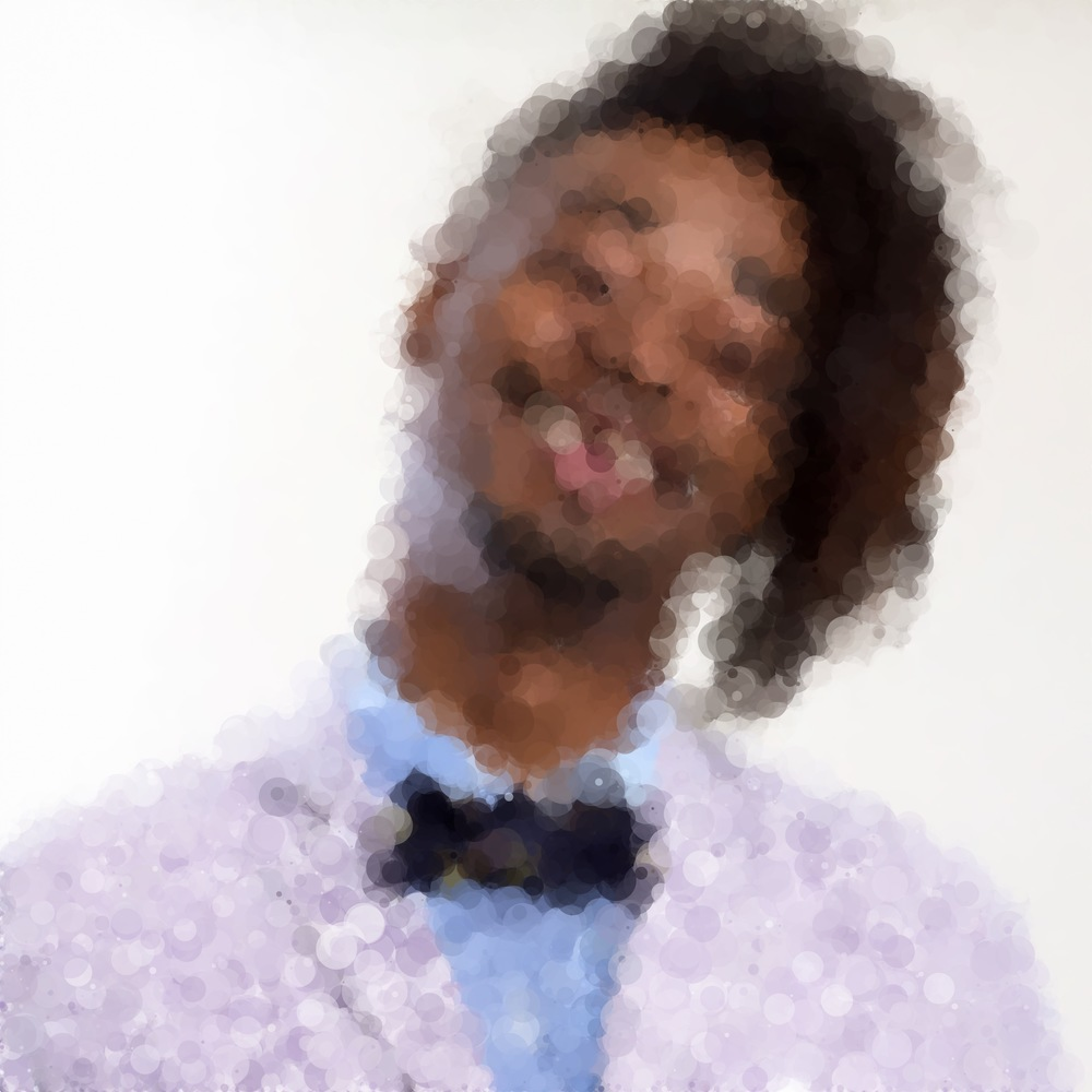 Danny Brown in abstract Bubblicious format