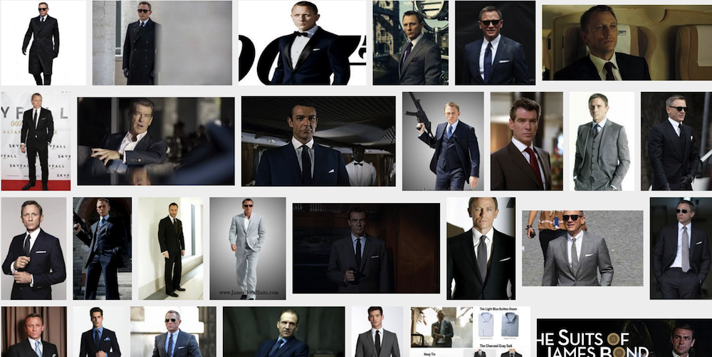 Google image PROOF! Bond wears white shirts! Wait is that a light blue? We will get to that