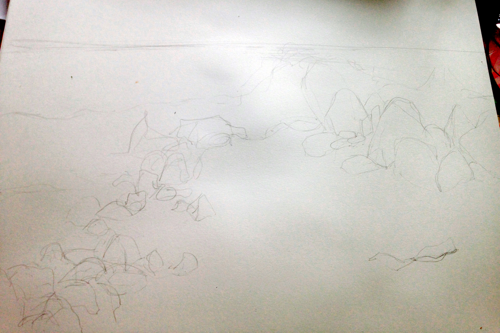 The initial sketch.