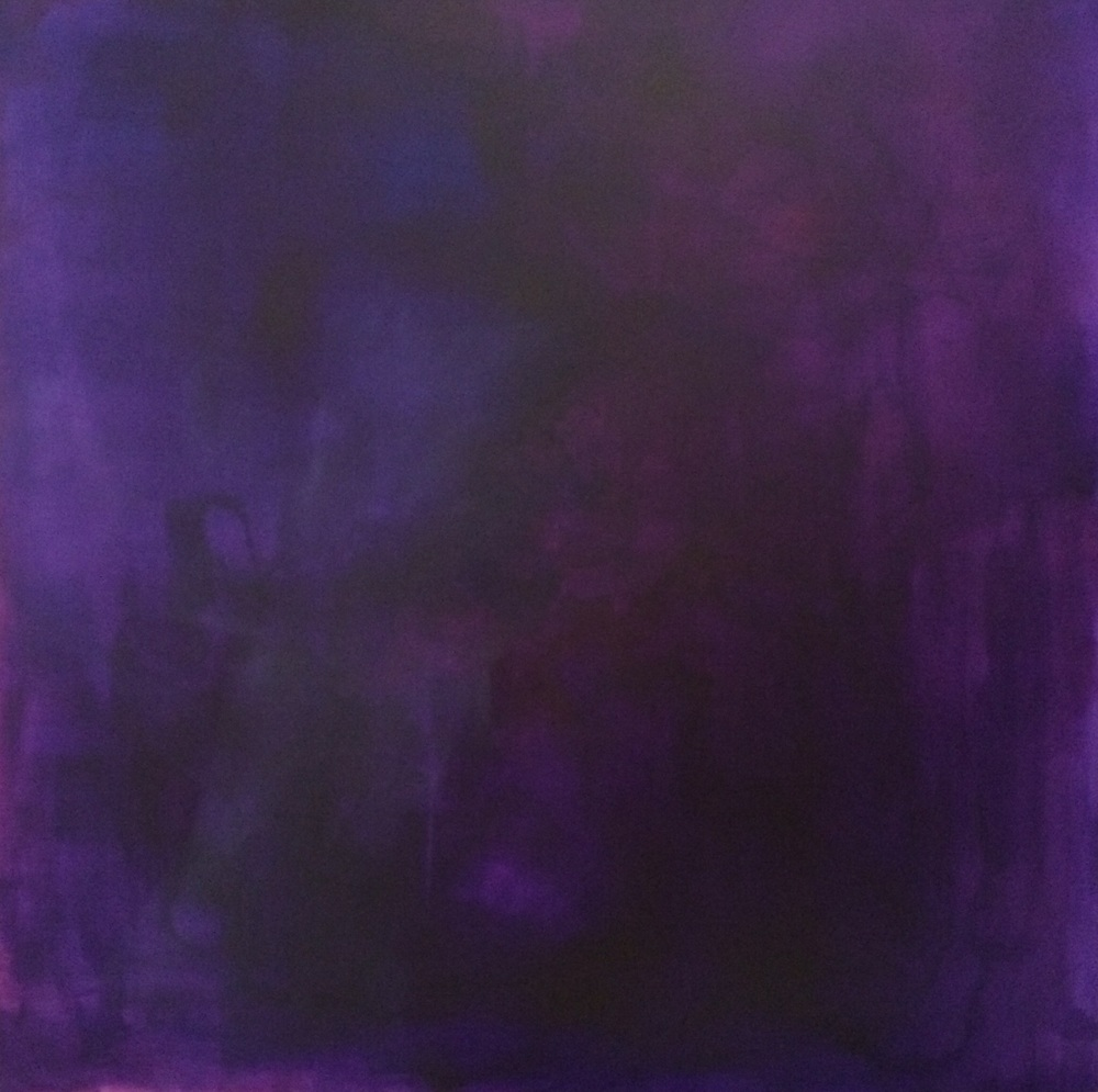 Meditation in Purple  mixed media on canvas 52x52