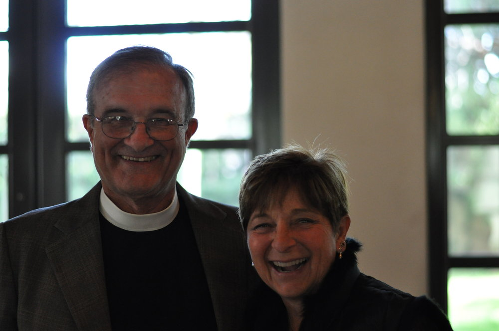 The Rev. Gary Bradley and Sr. Warden Juli Kennedy at the Annual Meeting 2017