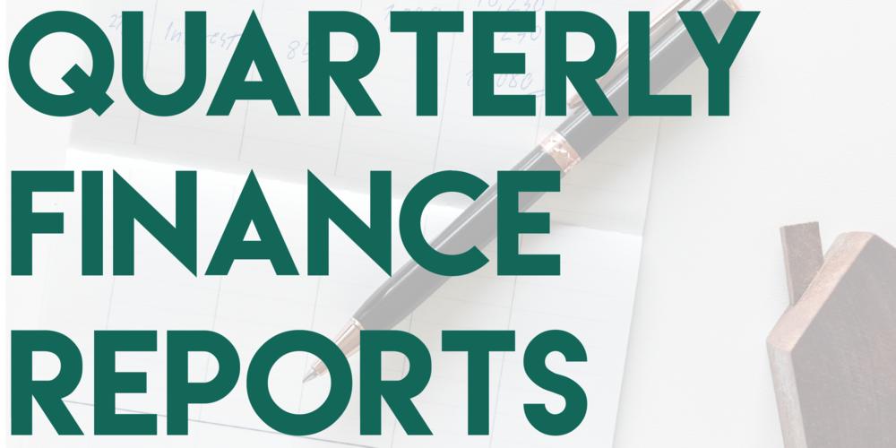 1st Quarter Financial Report