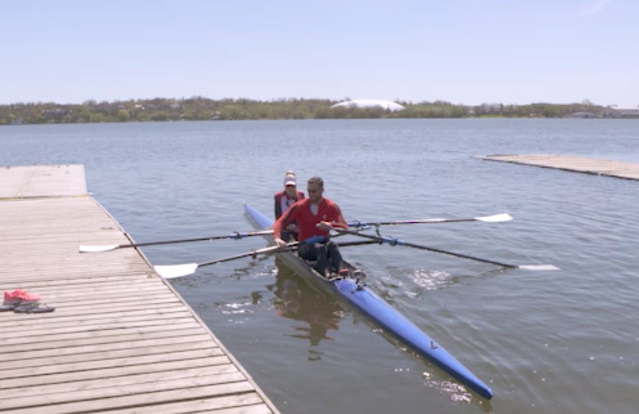 Episode 1: Rob Gibson - Claire as to overcome her fears of tipping a boat as she goes out for a rowing lesson with Canadian Olympic Medalist, Rob Gibson.