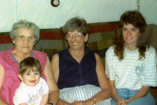 Baby Kathy! With my mom, Nana, and great-grandmother.