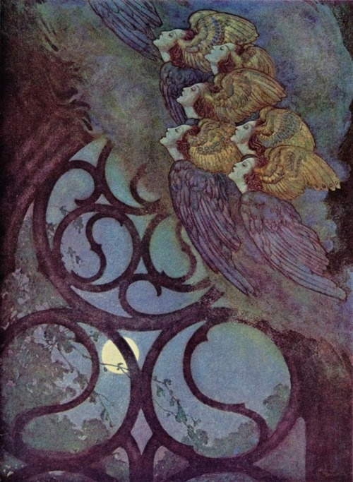 "Edmund Dulac, Illustration for Edgar Allen Poe's ""The Bells"""