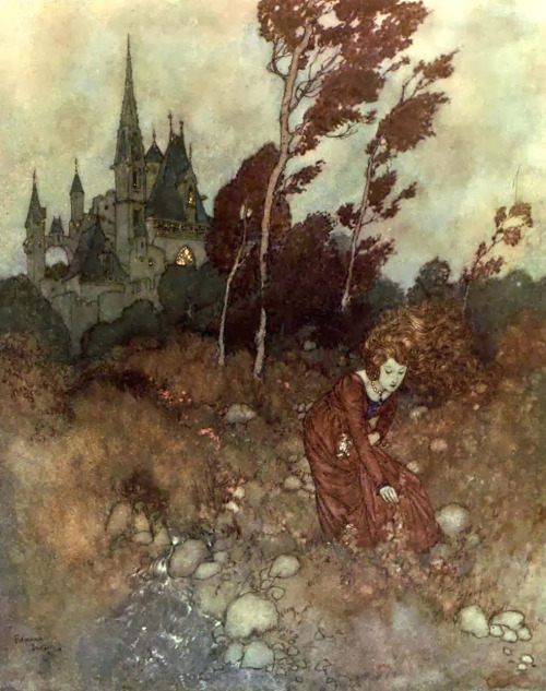 "Edmund Dulac, Illustration for ""Contes du Vent"" by Hans Christian Andersen (1911)"