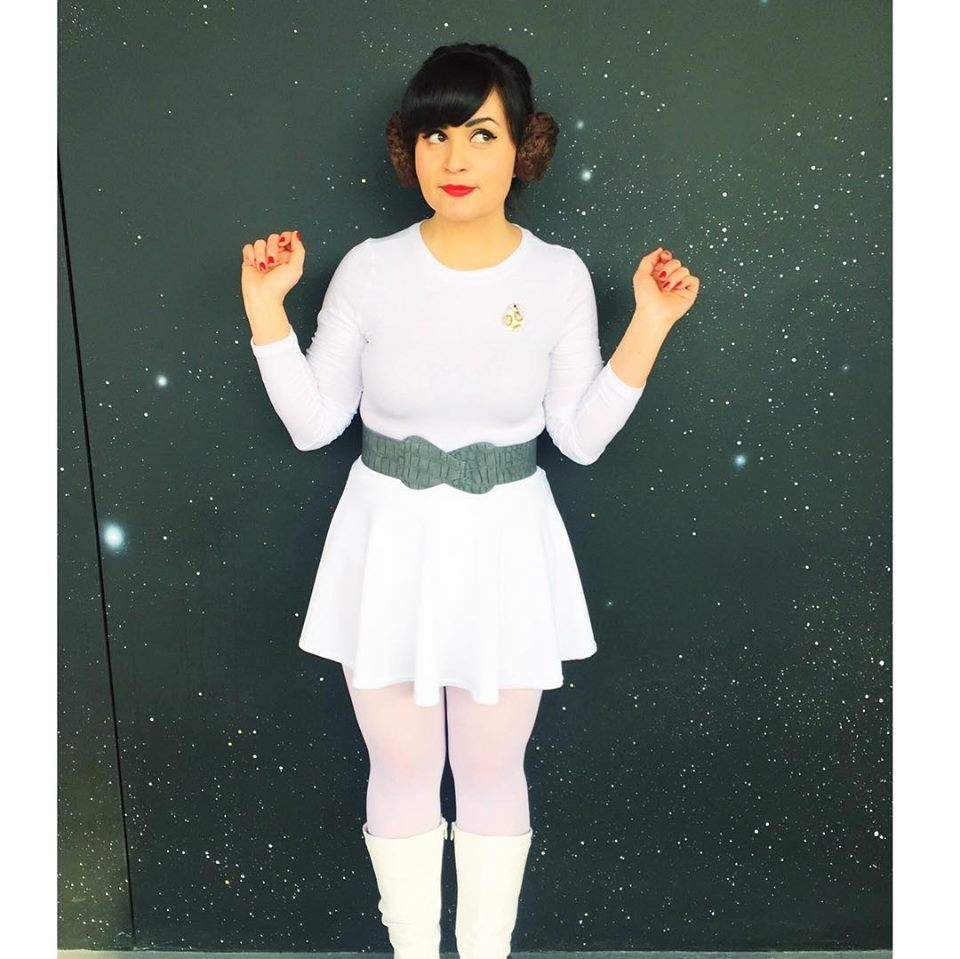 Melanie as Princess Leia