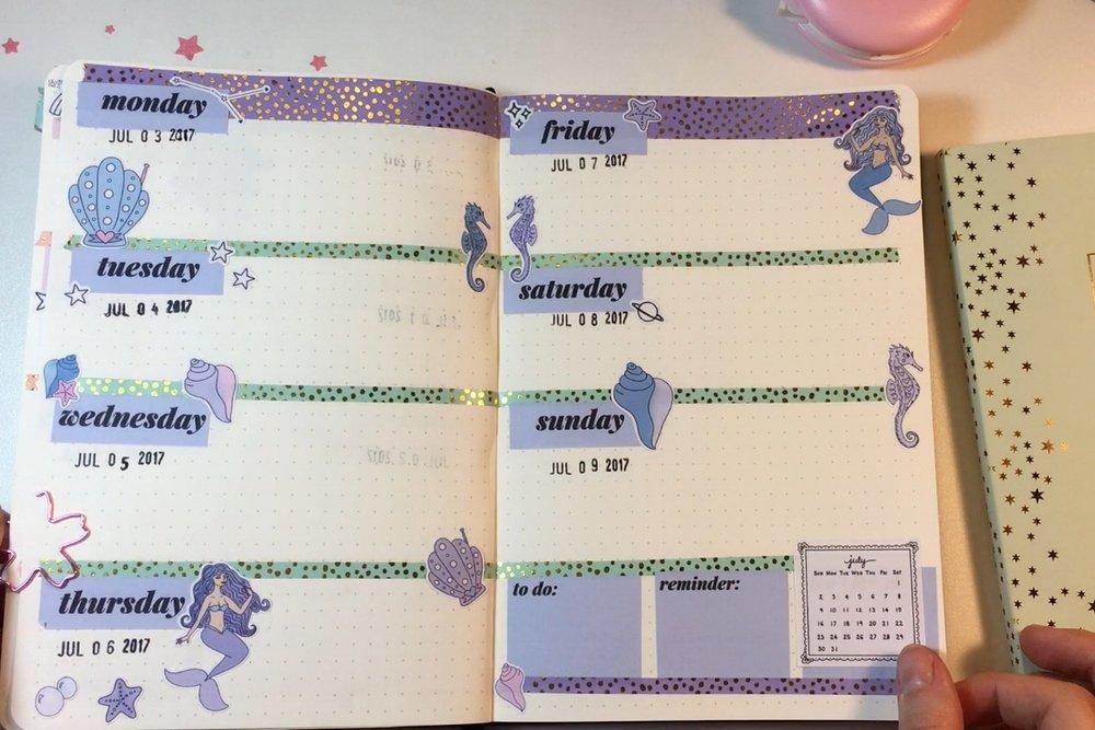 purple-bullet-journal-weekly-spread