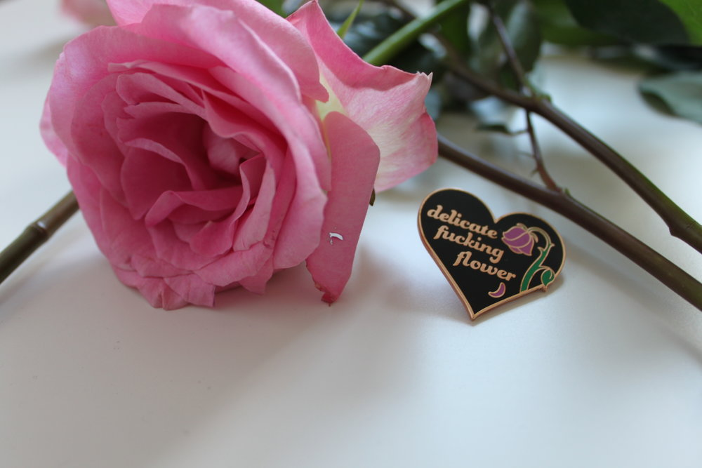 delicate-fucking-flower-enamel-pin-rose-gold