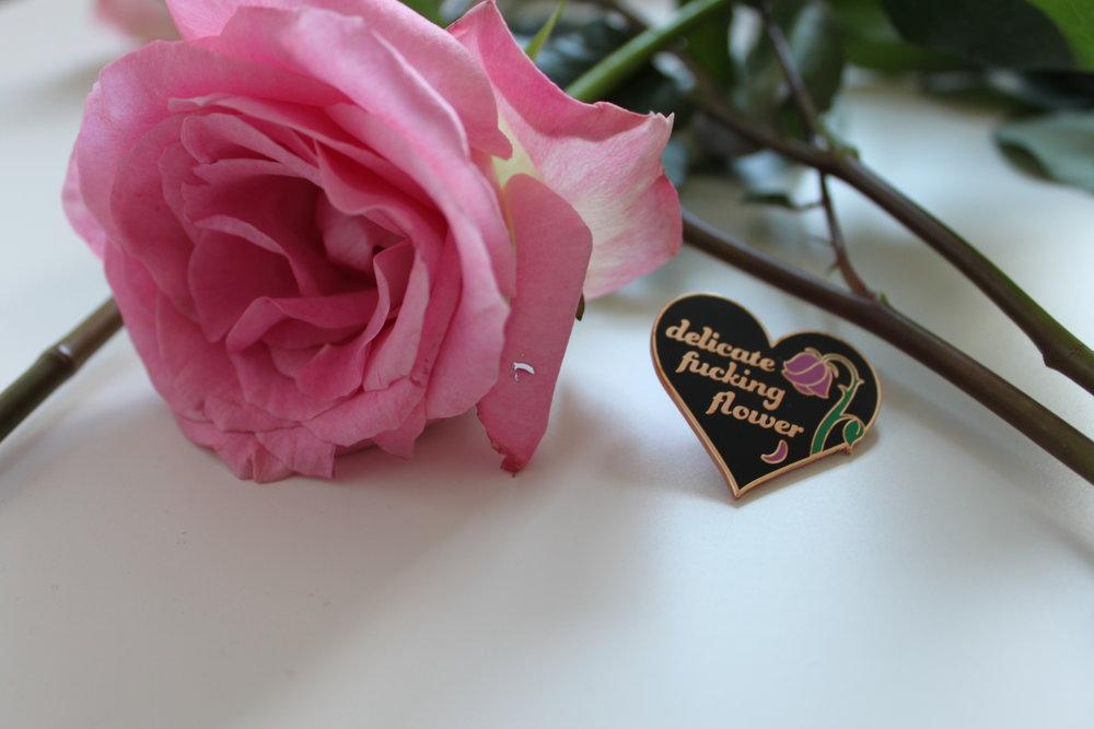 delicate-fucking-flower-enamel-pin-rose-gold