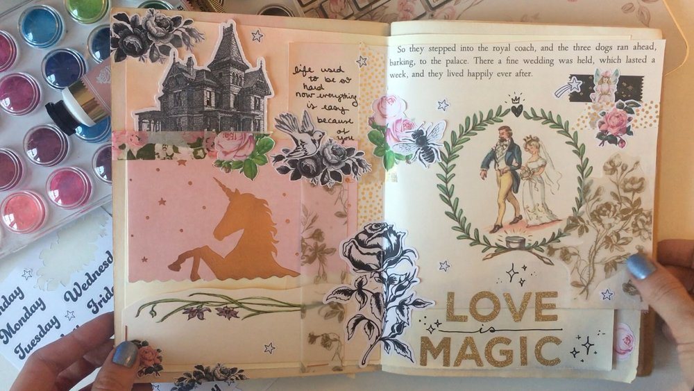 Inside My Art Journal love is magic season of fairytales